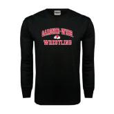 Black Long Sleeve TShirt-Wrestling
