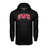 Under Armour Black Performance Sweats Team Hoodie-Arched GWU