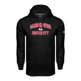 Under Armour Black Performance Sweats Team Hoodie-Arched Gardner-Webb University