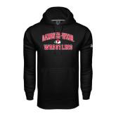 Under Armour Black Performance Sweats Team Hoodie-Wrestling
