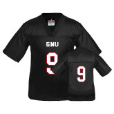 Youth Replica Black Football Jersey-#9