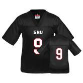 Youth Replica Black Football Jersey-#9