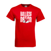 Red T Shirt-Bulldog Nation