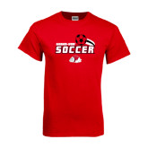 Red T Shirt-Soccer w/ Swoosh and Ball