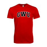 SoftStyle Red T Shirt-Arched GWU