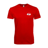 SoftStyle Red T Shirt-Bulldog