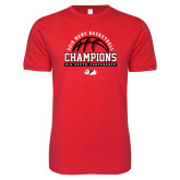 Next Level SoftStyle Red T Shirt-2019 Mens Basketball Chmapions