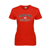 Ladies Red T Shirt-Arched Gardner-Webb University
