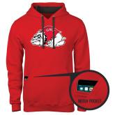 Contemporary Sofspun Red Hoodie-Bulldog