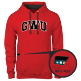 Contemporary Sofspun Red Hoodie-Arched GWU