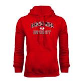 Red Fleece Hoodie-Arched Gardner-Webb University