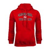 Red Fleece Hoodie-Wrestling