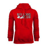 Red Fleece Hoodie-Bulldog Club
