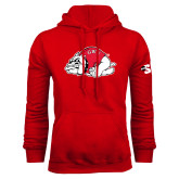 Red Fleece Hoodie-Bulldog