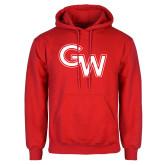 Red Fleece Hoodie-GW Primary Logo