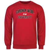 Red Fleece Crew-Arched Gardner-Webb University