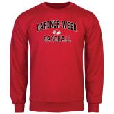 Red Fleece Crew-Baseball