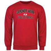 Red Fleece Crew-Volleyball