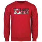 Red Fleece Crew-Bulldog Club
