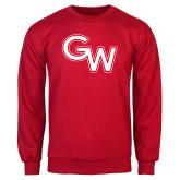 Red Fleece Crew-GW Primary Logo