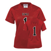 Ladies Red Replica Football Jersey-#1
