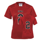 Ladies Red Replica Football Jersey-#2