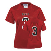 Ladies Red Replica Football Jersey-#3