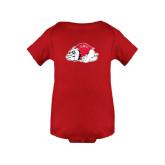 Red Infant Onesie-Bulldog