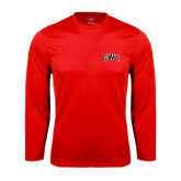 Syntrel Performance Red Longsleeve Shirt-Arched GWU
