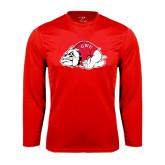Syntrel Performance Red Longsleeve Shirt-Bulldog