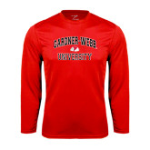 Syntrel Performance Red Longsleeve Shirt-Arched Gardner-Webb University