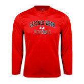 Syntrel Performance Red Longsleeve Shirt-Football