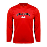 Syntrel Performance Red Longsleeve Shirt-Arched Bulldogs