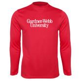 Syntrel Performance Red Longsleeve Shirt-Gardner-Webb University