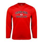 Syntrel Performance Red Longsleeve Shirt-Wrestling