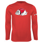 Performance Red Longsleeve Shirt-Bulldog