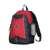 Impulse Red Backpack-Arched GWU