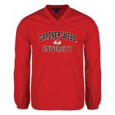 V Neck Red Raglan Windshirt-Arched Gardner-Webb University