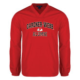 V Neck Red Raglan Windshirt-Alumni