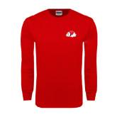 Red Long Sleeve T Shirt-Bulldog