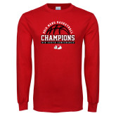 Red Long Sleeve T Shirt-2019 Mens Basketball Chmapions