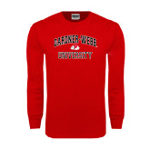 Red Long Sleeve T Shirt-Arched Gardner-Webb University