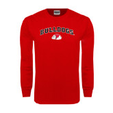 Red Long Sleeve T Shirt-Arched Bulldogs