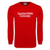 Red Long Sleeve T Shirt-Gardner-Webb University