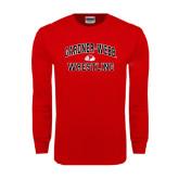 Red Long Sleeve T Shirt-Wrestling