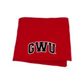Red Sweatshirt Blanket-Arched GWU