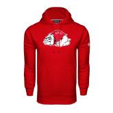 Under Armour Red Performance Sweats Team Hoodie-Bulldog