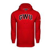 Under Armour Red Performance Sweats Team Hoodie-Arched GWU