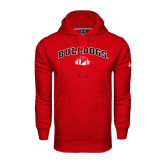 Under Armour Red Performance Sweats Team Hoodie-Arched Bulldogs