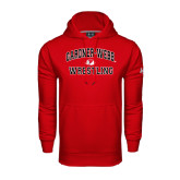 Under Armour Red Performance Sweats Team Hoodie-Wrestling